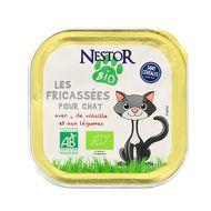 3700654000100 - Nestor Bio - Fricassées Pour Chat Bio Volaille et aux Petis Légumes