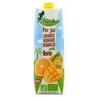 3760224570600 - Les Fées Bio - Pur Jus orange mangue banane BIO