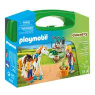 4008789091000 - PLAYMOBIL® Country - Valisette Cavalières avec cheval transportable