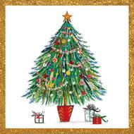 4021766263801 - Paperproducts Design - Serviettes Christmas Tree 33x33 cm
