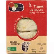 3760209680102 - Les P'tits Chefs du Bio - 4 Nems au Poulet, Bio
