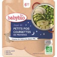 3288131570402 - Babybio - Soupe de Petits Pois & Courgette de Provence bio, dès 6 mois