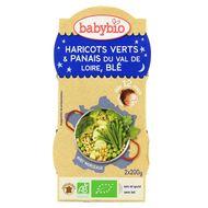 3288131520902 - Babybio - Haricots verts et panais, blé bio dès 12 mois