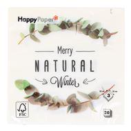 5412931061602 - HappyPaper - Serviettes papier Natural Winter 33cm