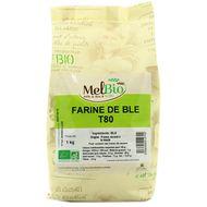 3556355012702 - Melbio - Farine de blé bio T80 Meule