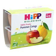 4062300126602 - Hipp - Coupelles Pommes Coings bio dès 4/6 mois