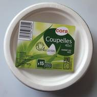 3257986789802 - Cora - 15 coupelles en bagasse compostable