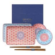 8718754060103 - Tokyo Design Studio - Coffret sushi colored Wave/Star