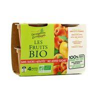 3330724310503 - Destination Lucien Georgelin - Purée Pommes Abricot bio sans sucre ajouté
