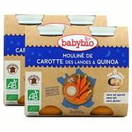 2050000312403 - Babybio - Mouliné de carotte des Landes et Quinoa Bio, dès 8 mois