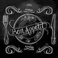 4021766226103 - Paperproducts Design - Serviettes papier Ardoise Bon Appetit 33x33cm