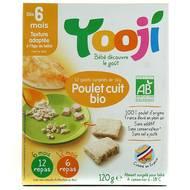3760234509003 - Yooji - Poulet bio haché, cuit et surgelé en galets dès 6 mois