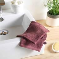 3574388009803 - Douceur D Interieur - 2 gants de toilette Eponge Violine