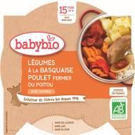 3288131530604 - Babybio - P'tit Plat - Légumes à labasquaise et poulet du Poitou Bio, dès 15 mois