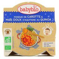 3288131501604 - Babybio - Fondue de carottes et maïs d'Aquitaine au quinoa bio, dès 12 mois