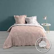 3574386429504 - Douceur D Interieur - Parure couette Veggy Rose/or 3 pièces