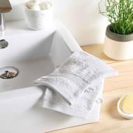 3574388009704 - Douceur D Interieur - 2 gants de toilette Eponge Blanc