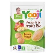 3760234500505 - Yooji - Purée de fruits bio- Pomme banane cannelle surgelée en portions dès 4 mois