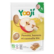 3760234500505 - Yooji - Ma purée de fruits bio- Pomme banane cannelle surgelée en portions dès 4 mois