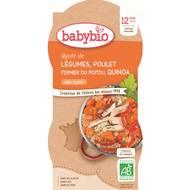 3288131520605 - Babybio - Mitonné de légumes au poulet fermier et quinoa bio dès 12 mois