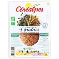 3472331232905 - Céréalpes - Galettes 4 graines Bio