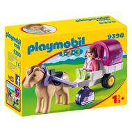 4008789093905 - PLAYMOBIL® 1.2.3 - Carriole avec cheval