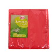 3257980204905 - Cora - Serviettes papier rouge 2 plis