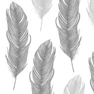 4021766217705 - Paperproducts Design - Serviettes papier plume argent 33x33cm