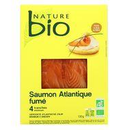 Nature Bio - Saumon fumé Bio, 130g
