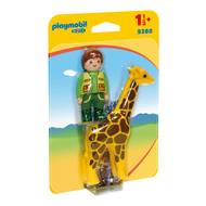 4008789093806 - PLAYMOBIL® 1.2.3 - Soigneur avec girafe