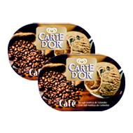 Carte d'Or Lot de 2 Glaces Caf� 1 Litre,