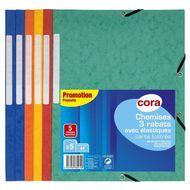 Cora - Chemises plates pour documents 21 x 29,7 cm