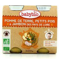 3288131510507 - Babybio - Pommes de terre, petits pois et jambon des pays de Loire bio,dès 8 mois