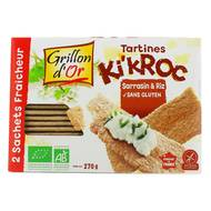 3421557401107 - Grillon Or - Tartines Ki'Kroc bio sarrasin et riz sans gluten