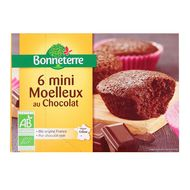 3396411221507 - Bonneterre - 6 Minis moelleux au chocolat bio