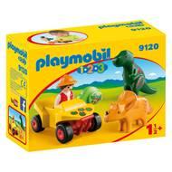 4008789091208 - PLAYMOBIL® 1.2.3 - Explorateur et dinosaures