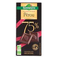 3396411232008 - Bonneterre - Chocolat noir bio Pérou 75% de cacao