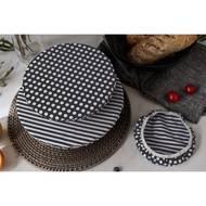 7640185742109 - Nuts - Set de 3 couvre-bols Noir/Blanc 100% Coton Bio