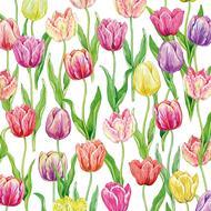 4021766269209 - Paperproducts Design - Serviettes papier Tulip Flush Napkin 33x33 cm