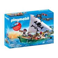 4008789701510 - PLAYMOBIL® Pirates - Chaloupe des pirates avec moteur submersible