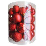 3602904752510 - Cora - Tube de boules multi-tailles rouges