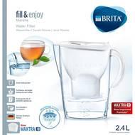 4006387076610 - BRITA - Carafe filtrante Marella blanche + 1 cartouche MAXTRA+