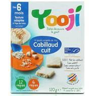 3760234509010 - Yooji - Cabillaud Pêche durable MSC haché, cuit et surgelé en galets dès 6 mois