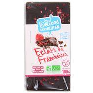 3421557600111 - Grillon Or - Chocolat noir bio avec éclats de framboise sans gluten