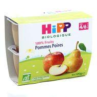 4062300011311 - Hipp - Coupelles Pommes Poires bio dès 4/6 mois