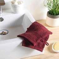 3574388009711 - Douceur D Interieur - 2 gants de toilette Eponge Bourgogne