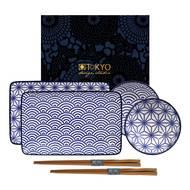 8719323549012 - Tokyo Design Studio - Coffret sushi Nippon Blue Wave/Star