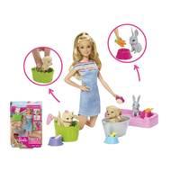 0887961691313 - Mattel - Le bain des animaux- Barbie- Fxh11