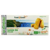 3426434010014 - Food4Good - 14 Bâtonnets panés de saumon Bio d'Irlande