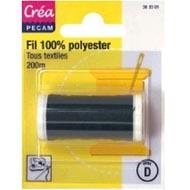 3040693630013 - Crea Pecam - Fil 100% coton noir 100m